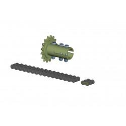 Tubular chain coupling Ø32